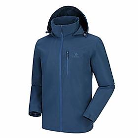 men's lightweight rain jacket waterproof raincoat windbreaker hooded active outdoor shell jacket for hiking work