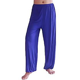 men's lightweight loose yoga pants elastic waist modal yoga harem pants royalbluep s