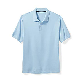 butamp; #39;s big amp; tall cotton pique polo shirt fit by dxl, light blue, 4x