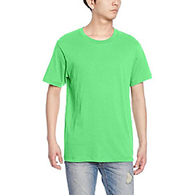 men's basic crew t-shirt simple and soft, grass, 2x