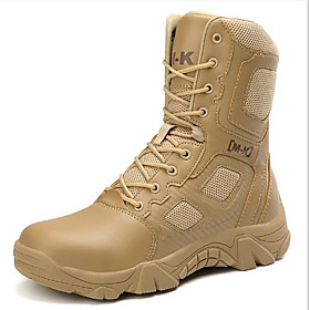 Men's Boots Sporty Athletic Daily Hiking Shoes / Walking Shoes PU Breathable Non-slipping Wear Proof Black / Beige Fall / Winter
