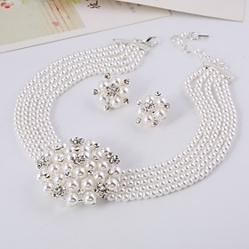 Women's White Bridal Jewelry Sets Earrings Jewelry White For Gift Festival Gender:Women's; Gemstone Color:White; Jewelry Type:Bridal Jewelry Sets; Occasion:Festival,Gift; Material:Alloy; Shipping Weight:0.09; Package Dimensions:16.013.03.0; Listing Date:10/29/2020