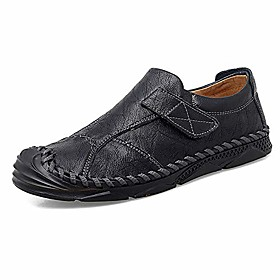 men's casual loafers breathable moccasins lace-up leather shoes handmade driving dress shoes white