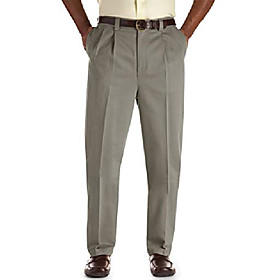 by dxl big and tall premium stretch pleated pants, olive, 52l 36