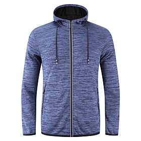 Men's Hoodie Jacket Front Zipper Stand Collar Stripes Sport Athleisure Hoodie Long Sleeve Breathable Quick Dry Sweat Out Comfortable Exercise  Fitness Running