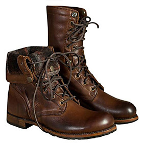 Men's Boots Casual Daily PU Breathable Non-slipping Booties / Ankle Boots Brown Fall / Winter