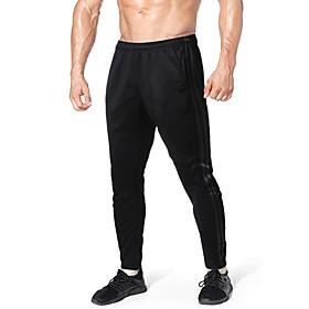 Men's Chinos Sweatpants Pants Striped Breathable Black S M L