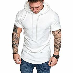 men's hipster hip hop hoodie tshirt white