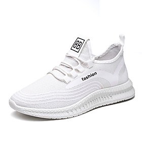 Men's Trainers Athletic Shoes Athletic Running Shoes Walking Shoes Mesh White Black Spring Fall Category:Trainers Athletic Shoes; Upper Materials:Mesh; Season:Fall,Spring; Gender:Men's; Activity:Walking Shoes,Running Shoes; Toe Shape:Round Toe; Outsole Materials:Rubber; Occasion:Athletic; Closure Type:Lace-up; Shipping Weight:0.715; Listing Date:10/26/2020; Foot Length:; Size chart date source:Provided by Supplier.; Special selected products:COD