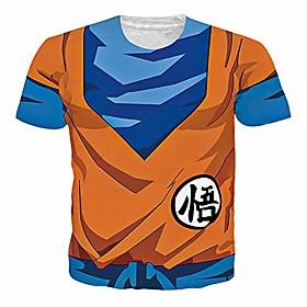 dragon ball z goku tshirt 3d japanese anime t shirt summer short sleeve tees cartoon cosplay clothing for mens womens,muscle goku,xxl