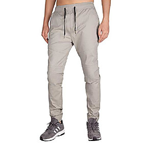 men's chino jogger skateboard pant twill athletic fit (xs, light grey)