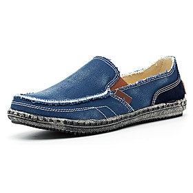 Men's Loafers  Slip-Ons Casual Daily Canvas Breathable Dark Grey / Black / Khaki Spring / Fall
