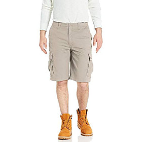 butamp; #39;s soft-feel twill cargo short, light stone, 42