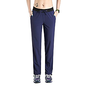 women's quick dry cargo travel pants with drawstring blue s/30 inseam