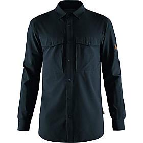 men's abisko trekking shirt - dark navy - xl