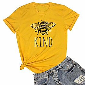 women cute funny graphic t shirts yellow large Listing Date:10/16/2020