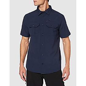men's kwando river shirt m men's short sleeved shirt, night blue, small