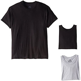 men's 4-pack comfortsoft dyed crew, black/grey, xx-large