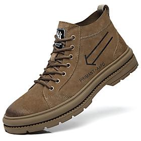 Men's Boots British Daily Pigskin Dark Brown / Black Fall / Winter