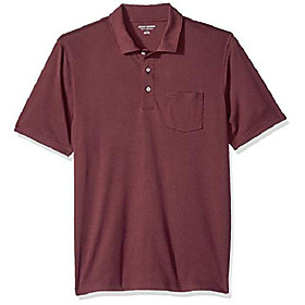 butamp; #39;s regular-fit pocket jersey polo, port, xx-large