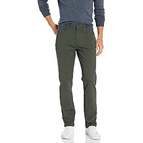 amazon brand - menamp; #39;s athletic-fit 5-pocket chino pant, olive, 36w x 36l