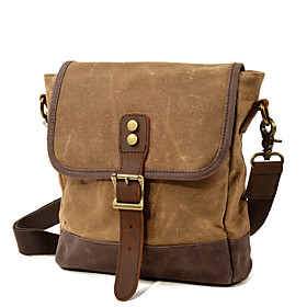 Men's Bags Canvas Crossbody Bag Beading Zipper for Daily / Outdoor Army Green / Khaki / Dark Gray