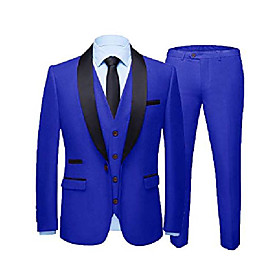 formal suits for men slim fit tuxedo for wedding attire dress suit one button blazer for prom 46 short royal blue