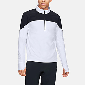 Men's 1 Piece Golf Zip Top Half Zip Color Block UV Sun Protection Breathable Quick Dry Autumn / Fall Spring Winter Sports Outdoor / Cotton / Long Sleeve / Stre