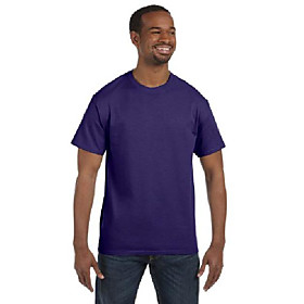 dri-power active adult tee, 2x, deep purple (pack of 5)