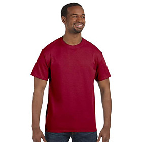 5.6 oz., 50/50 heavyweight blend t-shirt, small, cardinal
