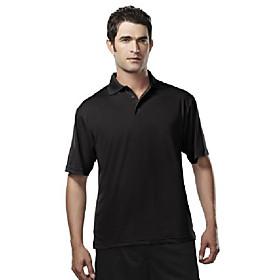 men's 224 campus polo s/s polo shirt (large, black)