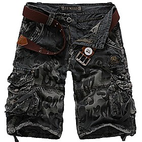 butamp; #39;s cotton camo multi pockets outdoor wear casual twill camouflage cargo shortsamp; #40;dark grey,38amp; #41;
