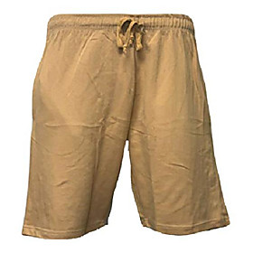 men's casual cotton elastic active jogger gym shorts with pockets (gold, 1x-big)