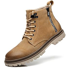 Men's Boots British Daily Pigskin Yellow / Gray Fall / Winter