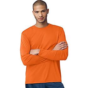 cool dri performance men's long-sleeve t-shirt_safety orange_x-large