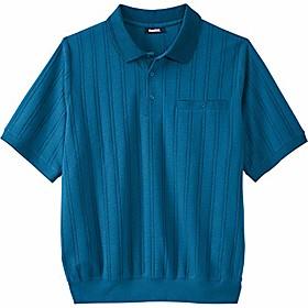 butamp; #39;s big amp; tall banded bottom polo shirt - tall - xl, midnight teal