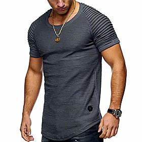 athletic casual t-shirtsfor men - morwebveo fashion short sleeve sweatshirt pullover cotton crew neck mens t-shirts grey