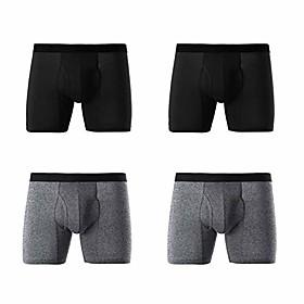 men's ice silk underwear breathable soft ultra-thin mesh boxer briefs (model 4, xx-large)