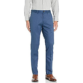 amazon brand - men's slim fit non-iron dress chino pant, blue, 40w x 30l