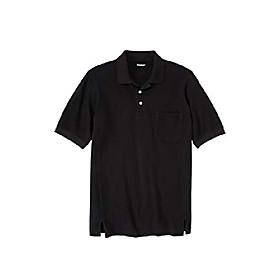 men's big amp; tall short sleeve modern fit piqué polo - big - 7xl, black