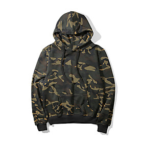 Men's Hunting Fleece Outdoor Warm Soft Outdoor Casual Fall Winter Camo Polyester Long Sleeve Camouflage