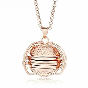 multi-layer photo locket necklace creative openable item box pendant collar jewelry accessories precious gift (rose gold)