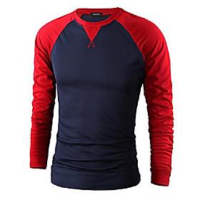 casual long sleeve raglan baseball crewneck jersey slim fit t shirt navy amp; red xxs
