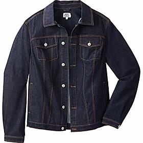 butamp; #39;s big amp; tall denim jacket - tall - xl, dark wash
