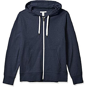 butamp; #39;s lightweight french terry full-zip hooded sweatshirt, navy, xx-large