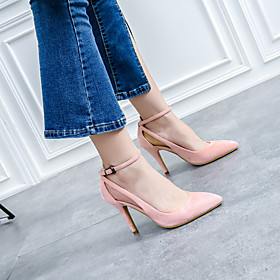 Women's Heels Stiletto Heel Pointed Toe Classic Vintage Sweet Daily Office  Career Solid Colored Suede Almond / Pink / Brown