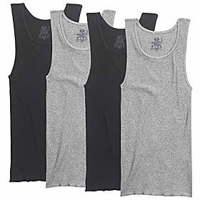men's a-shirt (pack of 4), black/gray, large