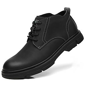 Men's Boots British Daily Cowhide Black / Khaki / Brown Fall / Winter