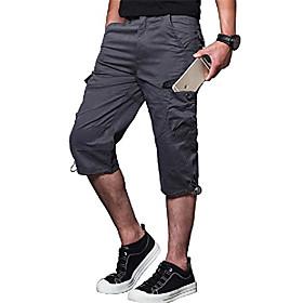 men's 5xl cargo shorts fishing cargo shorts cargo sweat shorts with multi-pocket purplish grey