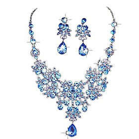 clearance! charm wedding bridal crystal necklace earrings jewelry set fine rhinestone women's prom jewelry statement (purple) Shipping Weight:0.033; Package Dimensions:1.01.01.0; Listing Date:10/30/2020; Special selected products:COD